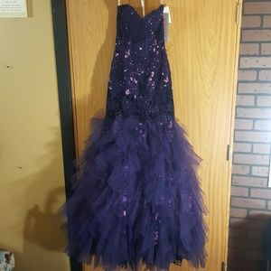 JOVANI, NEW WITH TAGS! Deep Purple Prom Gown